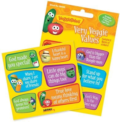 Vegt Very Veggie Values-Stck: Veggietales(r) Very Veggie Value Stickers by Tabbies