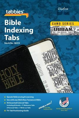 Camo Urban Bible Indexing Tabs: Urban Camo Bible Tabs by Tabbies