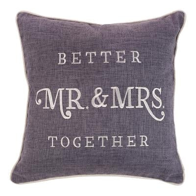 Large Square Pillow MR & Mrs Large Square Pillow MR & Mrs by Christian, Art Gifts