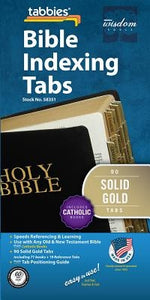 Bible Tabs - Solid Gold - Old: Classic Solid Gold Catholic Bible Tabs by Tabbies