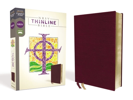 Nrsv, Thinline Bible, Bonded Leather, Burgundy, Comfort Print by Zondervan