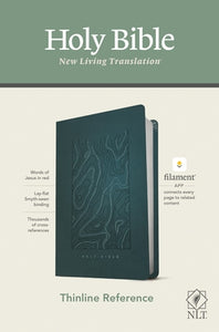 NLT Thinline Reference Bible, Filament Enabled Edition (Red Letter, Leatherlike, Teal Blue) by Tyndale