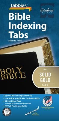 Bible Tabs - Solid Gold - Old: Classic Solid Gold Bible Tabs by Tabbies