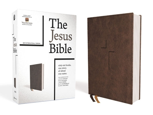 The Jesus Bible, NIV Edition, Leathersoft, Brown, Comfort Print by Passion