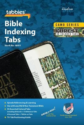 Camo Forest Bible Indexing Tab: Forest Camo Bible Tabs by Tabbies