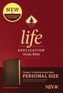 NIV Life Application Study Bible, Third Edition, Personal Size (Leatherlike, Dark Brown/Brown) by Tyndale