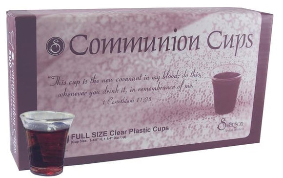 Swanson Communion Cups Clear with Cross 1 3/8 200 CT by Swanson Christian Products