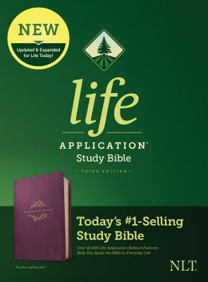 NLT Life Application Study Bible, Third Edition (Leatherlike, Purple)