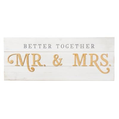 Mr & Mrs Wall Art by Christian, Art Gifts