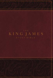 The King James Study Bible, Imitation Leather, Burgundy, Indexed, Full-Color Edition by Thomas Nelson