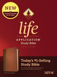 NIV Life Application Study Bible, Third Edition (Leatherlike, Brown/Tan) by Tyndale