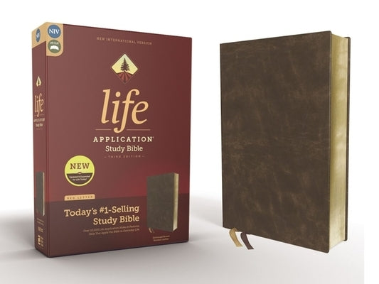 Niv, Life Application Study Bible, Third Edition, Bonded Leather, Brown, Red Letter Edition by Zondervan