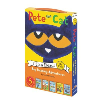 Pete the Cat: Big Reading Adventures: 5 Far-Out Books in 1 Box! by Dean, James