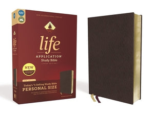 Niv, Life Application Study Bible, Third Edition, Personal Size, Bonded Leather, Burgundy, Red Letter Edition by Zondervan