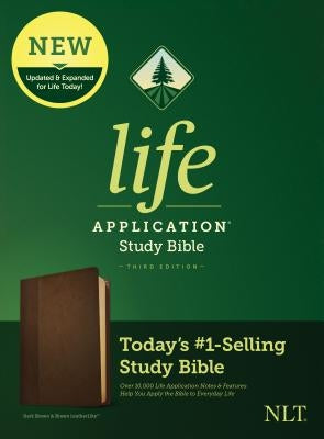 NLT Life Application Study Bible, Third Edition (Leatherlike, Dark Brown/Brown) by Tyndale