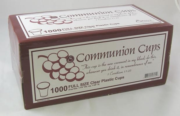 Swanson Communion Cups Clear 1 3/8 1000 CT by Swanson Christian Products