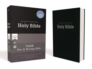 Nasb, Pew and Worship Bible, Hardcover, Black, 1995 Text, Comfort Print by Zondervan