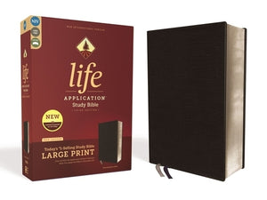 Niv, Life Application Study Bible, Third Edition, Large Print, Bonded Leather, Black, Red Letter Edition by Zondervan