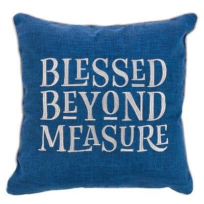 Large Square Pillow Blessed Beyond Measure Large Square Pillow Blessed Beyond Measure by Christian Art Gifts