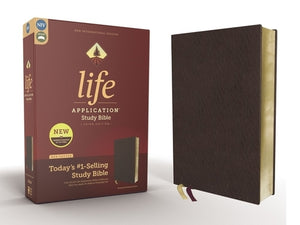 Niv, Life Application Study Bible, Third Edition, Bonded Leather, Burgundy, Red Letter Edition by Zondervan
