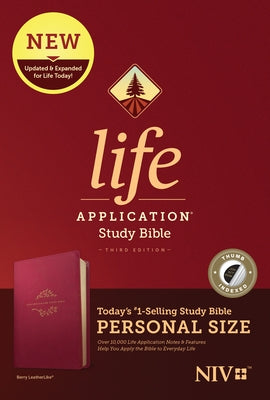 NIV Life Application Study Bible, Third Edition, Personal Size (Leatherlike, Berry, Indexed) by Tyndale