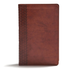CSB Everyday Study Bible, British Tan Leathertouch by Csb Bibles by Holman
