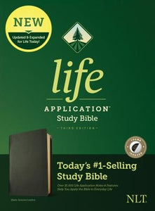 NLT Life Application Study Bible, Third Edition (Genuine Leather, Black, Indexed) by Tyndale