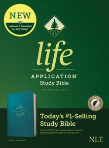 NLT Life Application Study Bible, Third Edition (Leatherlike, Teal Blue, Indexed) by Tyndale