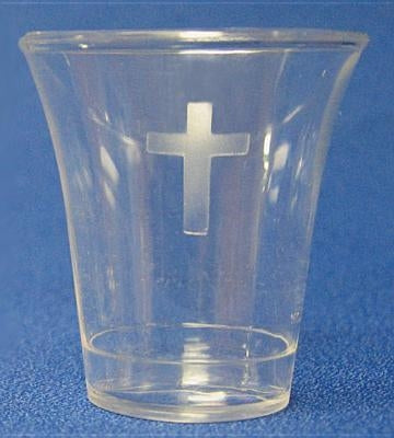 Swanson Communion Cups Clear with Cross 1 3/8 500 CT by Swanson Christian Products