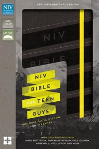 NIV, Bible for Teen Guys, Leathersoft, Charcoal, Elastic Closure: Building Faith, Wisdom and Strength by Zondervan