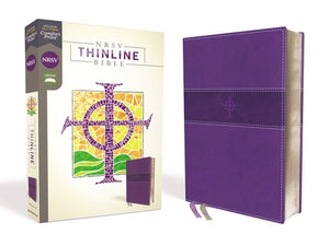 Nrsv, Thinline Bible, Leathersoft, Purple, Comfort Print by Zondervan