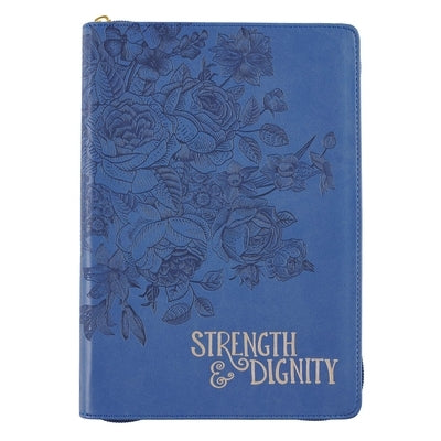 Journal Classic Zippered Luxleather Strength & Dignity by Christian Art Gifts Inc