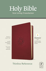NLT Thinline Reference Bible, Filament Enabled Edition (Red Letter, Leatherlike, Berry) by Tyndale