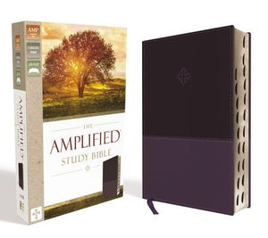 Amplified Study Bible, Imitation Leather, Purple, Indexed by Zondervan