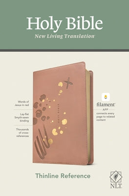NLT Thinline Reference Bible, Filament Enabled Edition (Red Letter, Leatherlike, Pink) by Tyndale