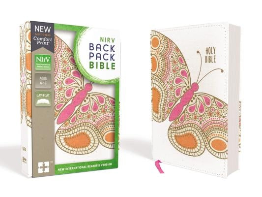 NIRV, Backpack Bible, Flexcover, Pink Butterfly by Zondervan