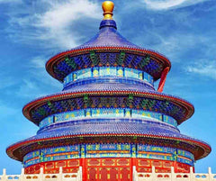 The Temple of Heaven in Beijing, China with Lapis Lazuli roof