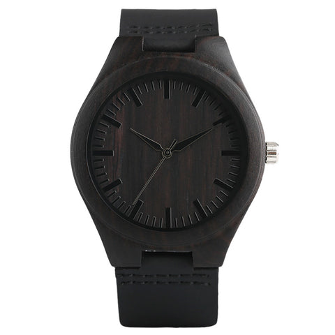Ebony Bamboo Watch
