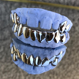 6 Teeth Gold Bottom Grillz With 4 Top Slugs