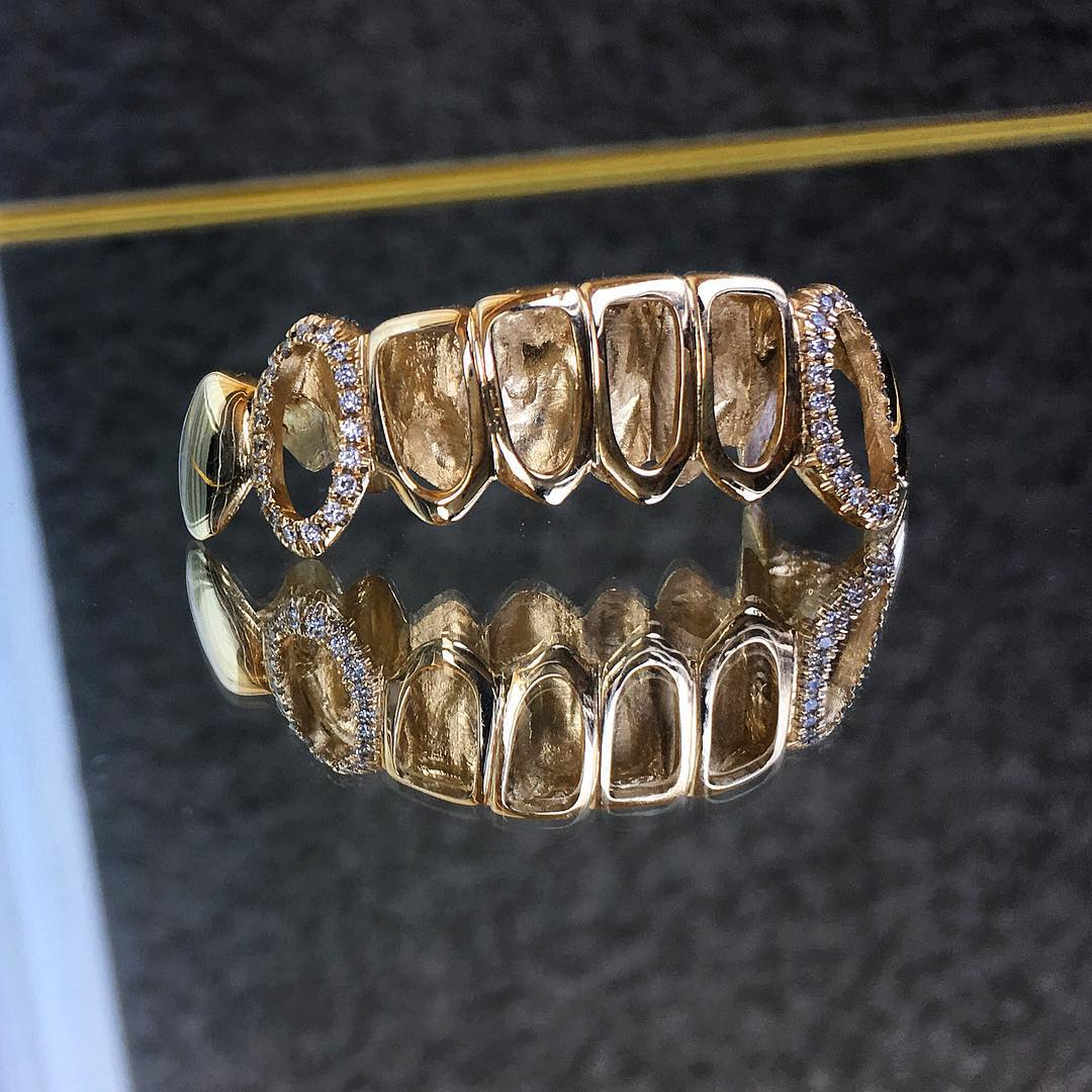 Open Face Bottom Grillz With CZ