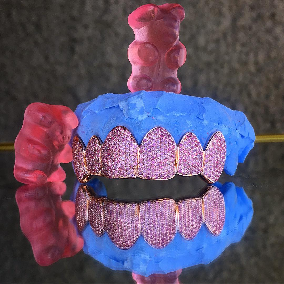 Pink Diamond Grillz VVS