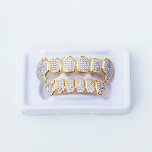 Fake Iced Out Fang Grillz