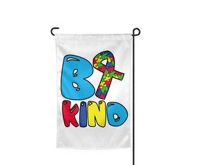 Be Kind Autism Garden Flag - Incandescently - Glitter Sparkle Throw Pillows - Farmhouse Decor
