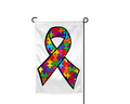 Autism Ribbon Garden Flag