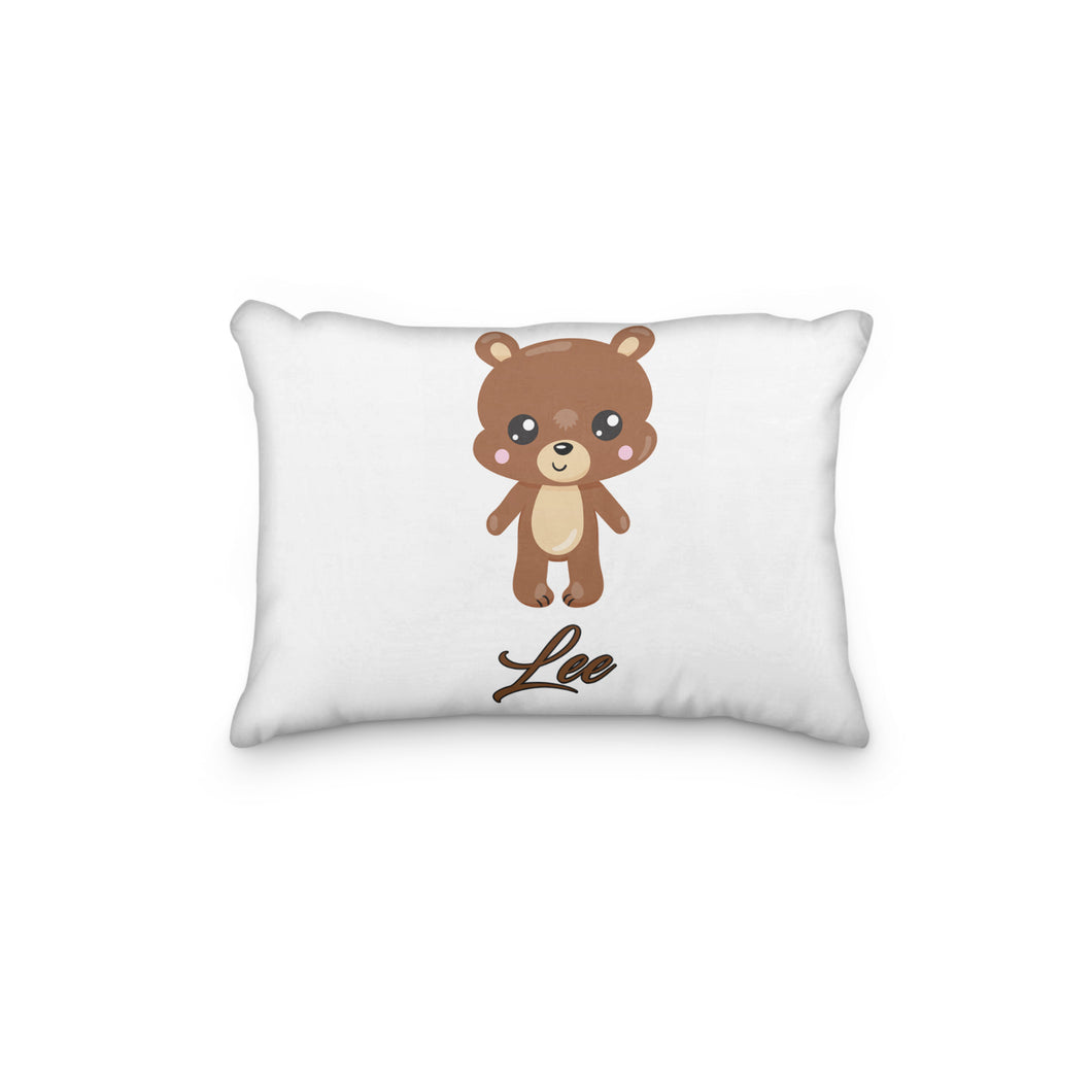 Bear Standing Dark Brown Personalized Pillowcase - incandescently