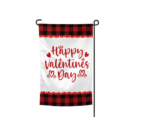 Happy Valentine's Day Buffalo Plaid Garden Flag - Incandescently - Glitter Sparkle Throw Pillows - Farmhouse Decor