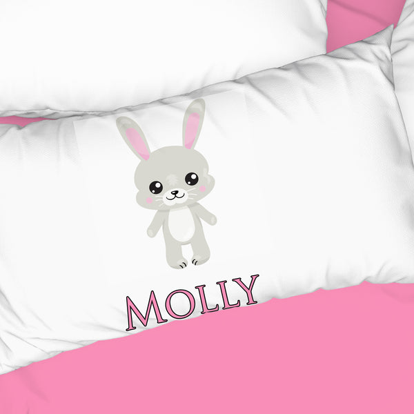Bunny Standing Personalized Pillowcase - Incandescently