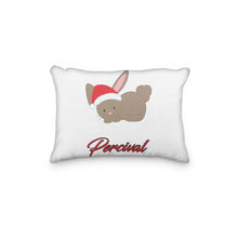 Load image into Gallery viewer, Bunny Christmas Hat Personalized Pillowcase - incandescently