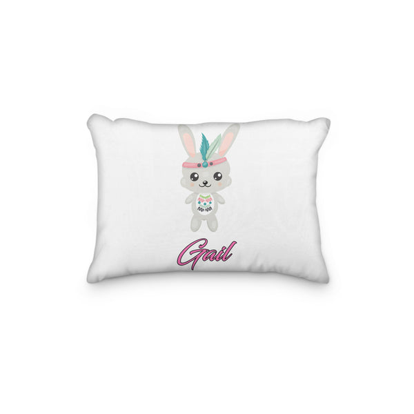 Bunny Tribal Personalized Pillowcase - Incandescently - Glitter Sparkle Throw Pillows - Farmhouse Decor