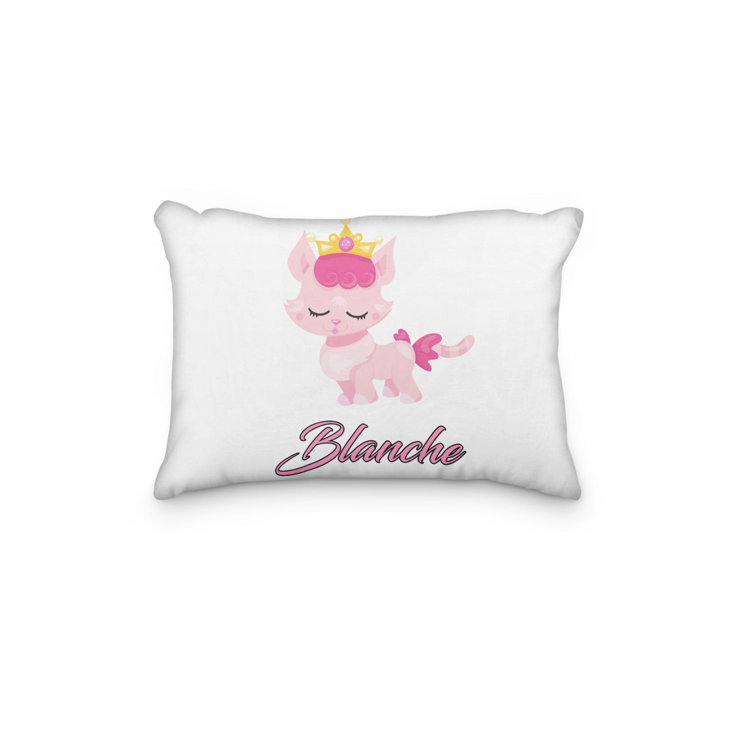 Cat Princess Pink Personalized Pillowcase - Incandescently